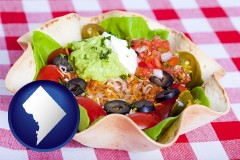 washington-dc a texmex taco salad in a baked tortilla